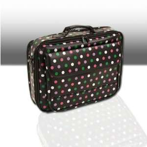 com 17 Black Pink White Purple Green Polka Dots Laptop Computer Case