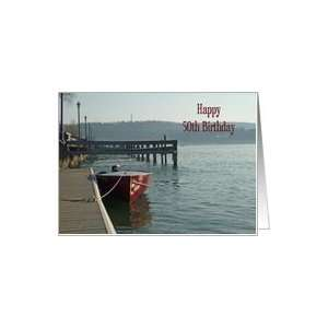 Fishing Boat 50th Birthday Card Card Toys & Games
