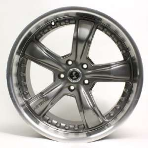 20 AMERICAN RACING SHELBY GUNMETAL RAZOR WHEEL