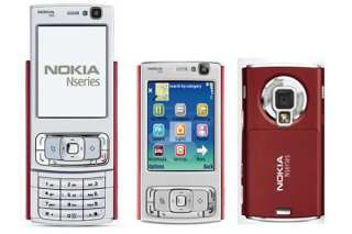 New Nokia N95 3G AT&T WiFi GPS 5MP Unlocked Phone Red 758478012536