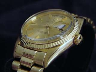 MEN ROLEX 18KT 18K YELLOW GOLD DAY DATE PRESIDENT WATCH