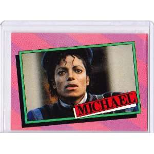 Michael Jackson 1984 Topps Trading Card #15