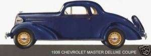 1936 CHEVROLET ~ MASTER DELUXE COUPE (BLUE) ~ MAGNET