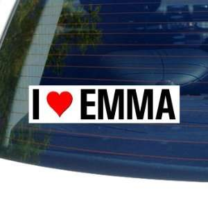 I Love Heart EMMA   Window Bumper Sticker Automotive