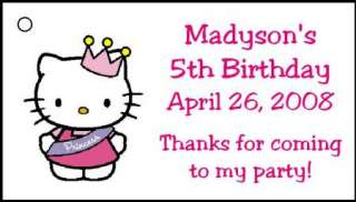 Personalized HELLO KITTY Birthday Favor Tags