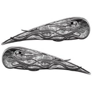 Reflective Silver Tribal Motorcycle Gas Tank Flame Decals Automotive