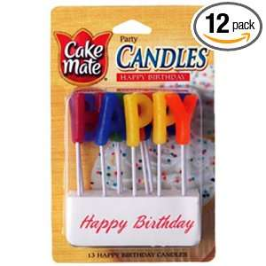 Cake Mate Happy Birthday Candles, 13 Count, Units (Pack of 12)