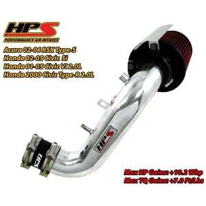 02 05 Honda Civic Si 2.0L HPS Short Ram Air Intake Kit