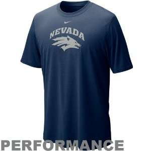 Nike Nevada Wolf Pack Navy Blue Legend Logo Performance T