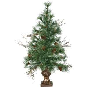 3 Pre Lit Potted Mixed Fir Christmas Tree   Clear Lights