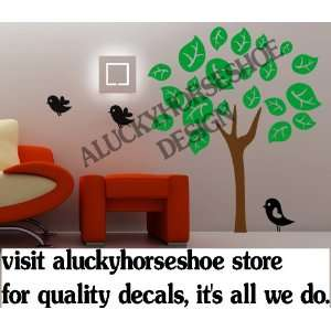 Vinyl wall decal  Big leafy tree sticker  sold by aluckyhorseshoe