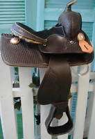 Youth Barrel Racer Western Trail Saddle 12.5 pony Dark Oil Boy Girl