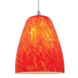 Sydney Fire Burgandy Mini Pendant Light 7 Inches W   Access Lighting