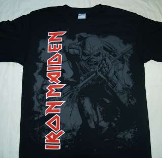IRON MAIDEN   Eddie Grey Logo   Official T SHIRT Sizes S M Brand New