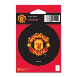 MANCHESTER UNITED OFFICIAL LOGO 3 ROUND CAR DECAL