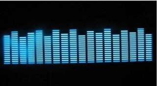 EL Car Stickers Sound music Activated / Equalizer Glow 12V LED Light