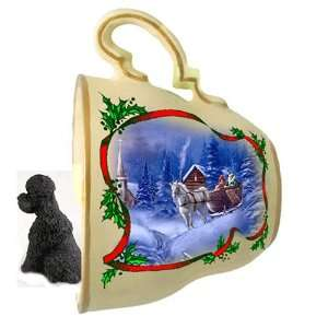 Poodle Sport cut Christmas Ornament Sleigh Ride Tea Cup