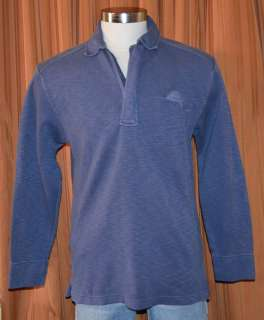 Tommy Bahama RELAX BLUE COTTON CASUAL HALF ZIP PULLOVER ARUBA SWEATER