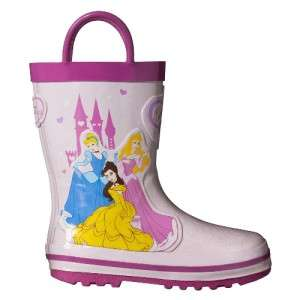 Toddler girls Disney Princess Rain Boots shoes Pink NEW