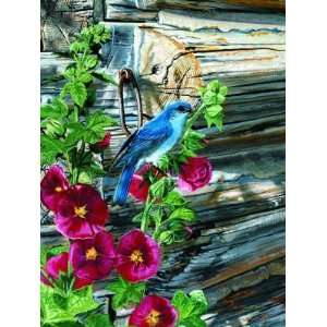 Color Play Bluebirds Outdoor Art