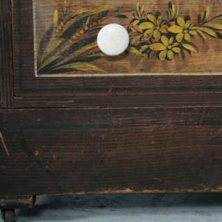 Antique American Painted Vanity/Dresser with Mirror c.1890