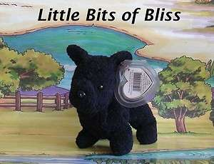 Ty Beanie Baby SCOTTIE the Scottish Terrier Dog MWMT