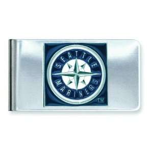 MLB Seattle Mariners Stainless Steel Money Clip