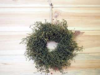 PRIMITIVE Green Sweet Annie Wreath~Small Country Farmhouse Style