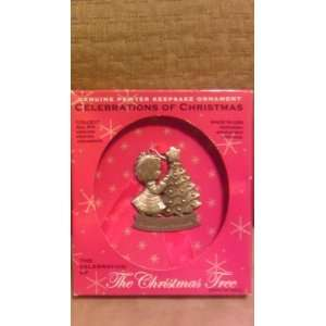 Celebrations of Christmas Pewter Keepsake Ornament~Share The World