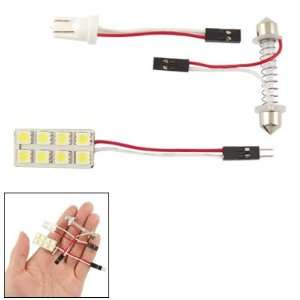 Amico DC 12V Car T10 8 SMD LED White Dome Light Lamp Bulb