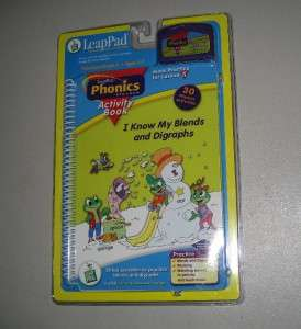 Leap Frog Leap Pad PHONICS I KNOW MY BLENDS K 2nd NEW