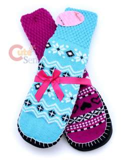 Womens Non Skid Slipper Socks Set 2 Pair Various Color