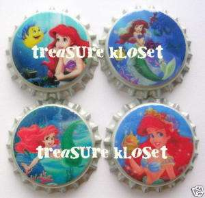 Princess Ariel Little Mermaid Set #4 Sealed Bottle Caps