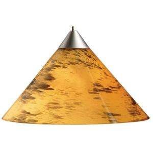 Juno 1 Light Hanging Mini Pendant With Amberdrift Shade