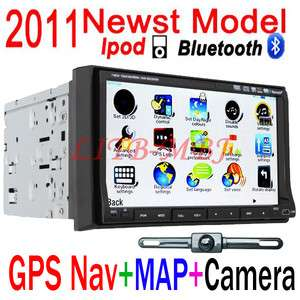 In Dash Car Stereo DVD CD  MP4 Player GPS RDS Bluetooth+Free Camera