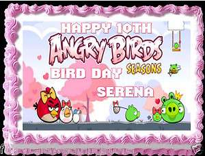 Sheet Angry Birds Girl Valentines Day Seasons Pigs Hearts Edible