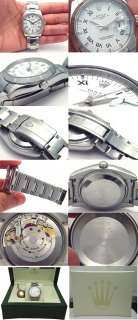 PERPETUAL ROMAN NUMERAL DATE STAINLESS STEEL 2007 MENS WATCH