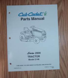 CUB CADET 2146 TRACTOR & ENGINE ILLUSTRATED PARTS LIST