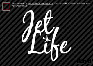 2x) Jet Life Sticker Decal Die Cut vinyl
