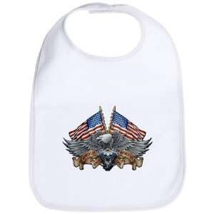 Cloud White Eagle American Flag and Motorcycle Engine