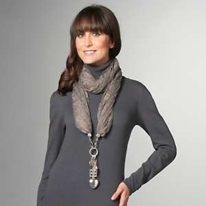 IMAN Global Chic Glam Lace Scarf with Charm Detail