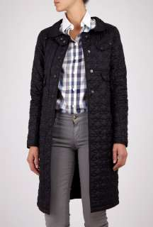 Black Minx Quilted Long Coat by Barbour   Black   Buy Coats Online at
