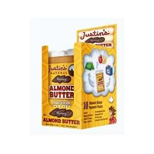 Justins Natural Honey Almond Butter   10 Squeeze Packs
