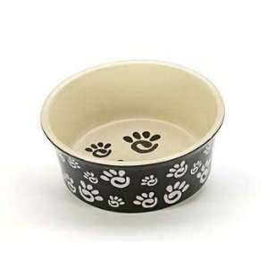Top Quality Ceramic Paw Print Wide Rim Dog Dish 6