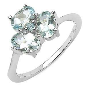 1.10 ct. t.w. Aquamarine and Blue Topaz Ring in Sterling