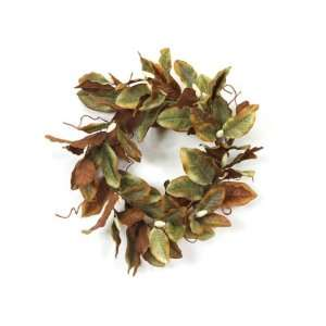 Winter Solace Artificial Magnolia Leaves & Buds Christmas Wreaths