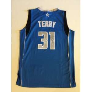 Dallas Mavericks JASON TERRY Signed Autographed NBA Jersey COA
