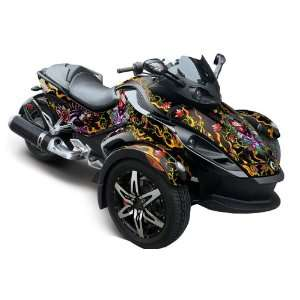 Can Am BRP Spyder Graphic Decal Wrap Kit   Love Kil Automotive