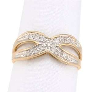 14kt Diamond Criss Cross Ring Jewelry