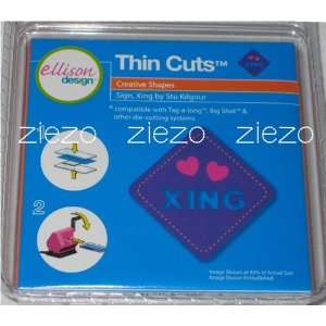 Ellison/Sizzix Thin Cuts Sign, Xing (Love Crossing) Die